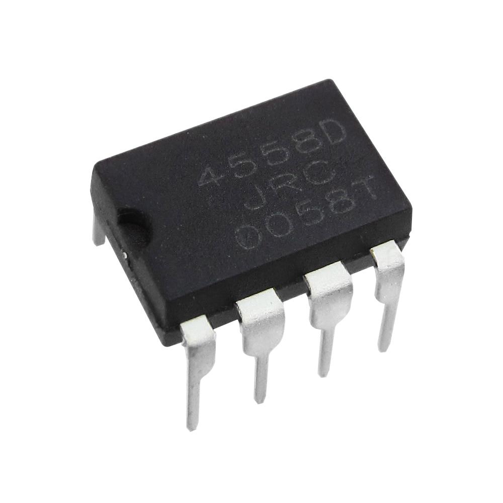 HAILANGNIAO 10PCS JRC4558 4558 4558D DIP-8 Integrate IC Chip DUAL OPERATIONAL AMPLIFIER Original and NEW