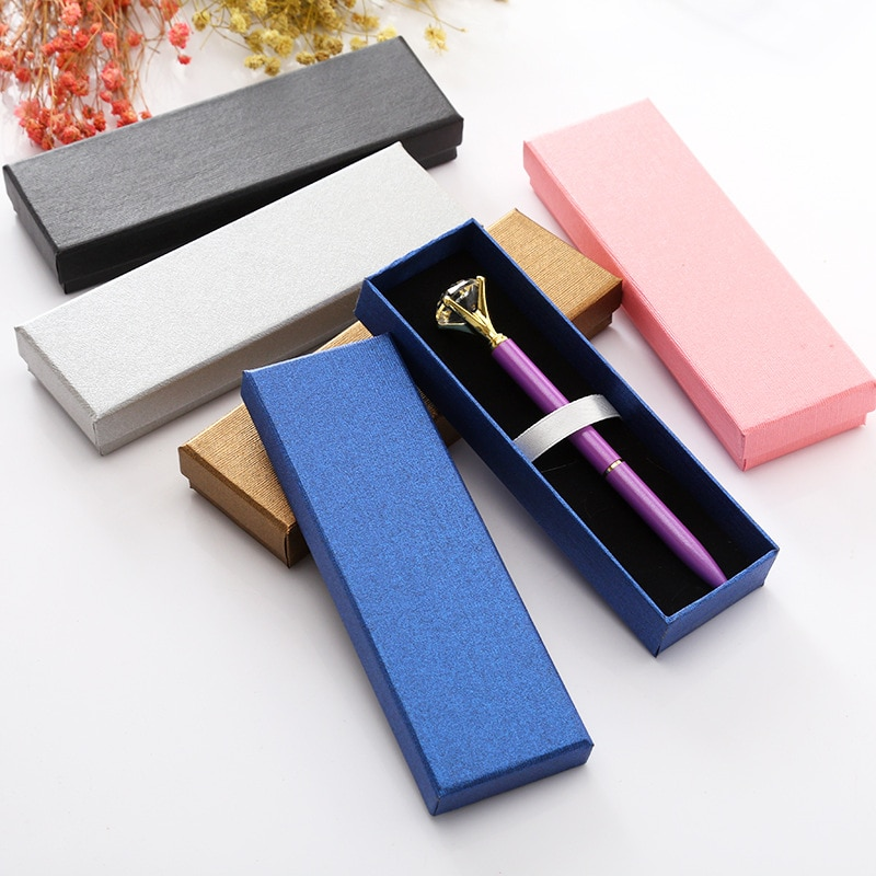 Colorido Estilo Negócios Canetas Caixa de Embalagem Caixa de Presente Caneta Esferográfica De Moda Jóias de Luxo Caixa de Decoração Caixa de Lápis Malote Da Caixa Geral