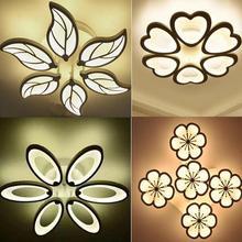 خصم خاص 6 رؤساء تصميم جديد أكريليك سقف ليد حديث أضواء امب بلافوند avize داخلي 4 أشكال 100-240 فولت