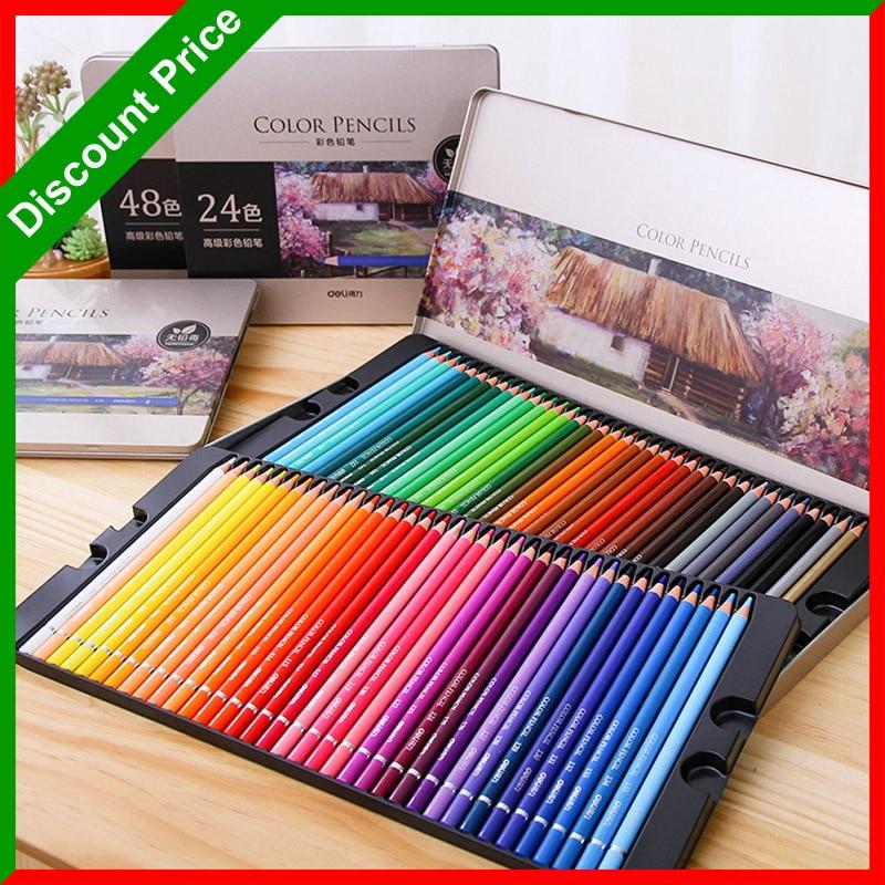Lápices de colores Premium de 24/36/48/72, lápices de colores, núcleo suave profesional, juego de lápices de dibujo de colores para libros de colorear