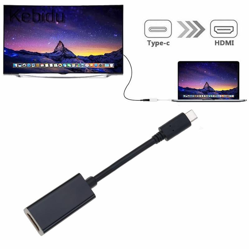 Adapter usb C do hdmi 4K typ C 3.1 wtyk męski do hdmi żeński Adapter kablowy konwerter do Samsung S9/8 Plus HTC HUAWEI LG G8