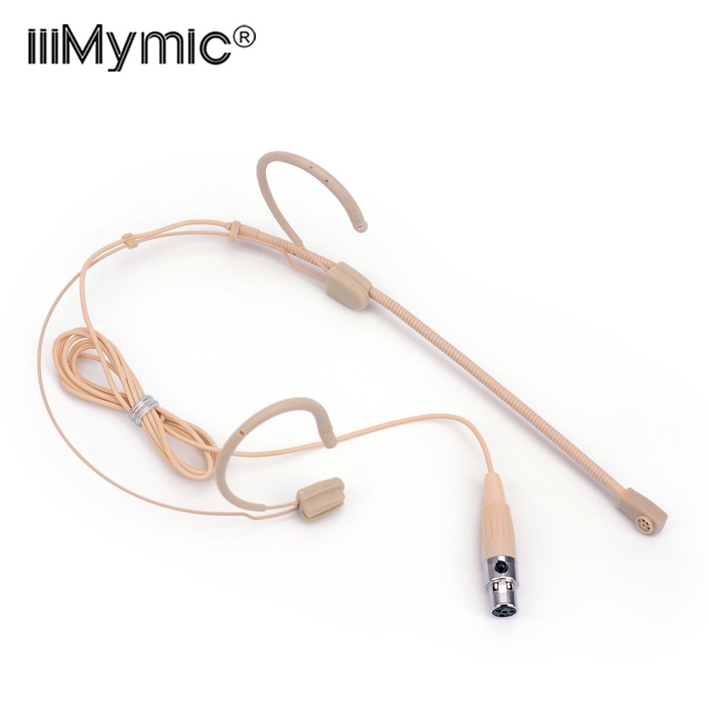 Fone de Ouvido Sistema sem Fio Mic para Shure Profissional Omnidirecional Pinos Microfone Condensador Discurso Headworn Ta4f Xlr 4
