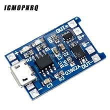 5pcs Micro USB 5V 1A 18650 TP4056 batteria al litio modulo caricabatterie scheda di ricarica con protezione doppia funzione 1A Li-ion