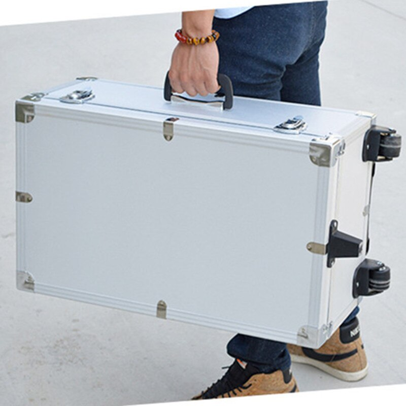 Travel trolley precision instrument toolbox moisture proof, shockproof aluminum alloy ABS suitcase bag storage box luggage bags