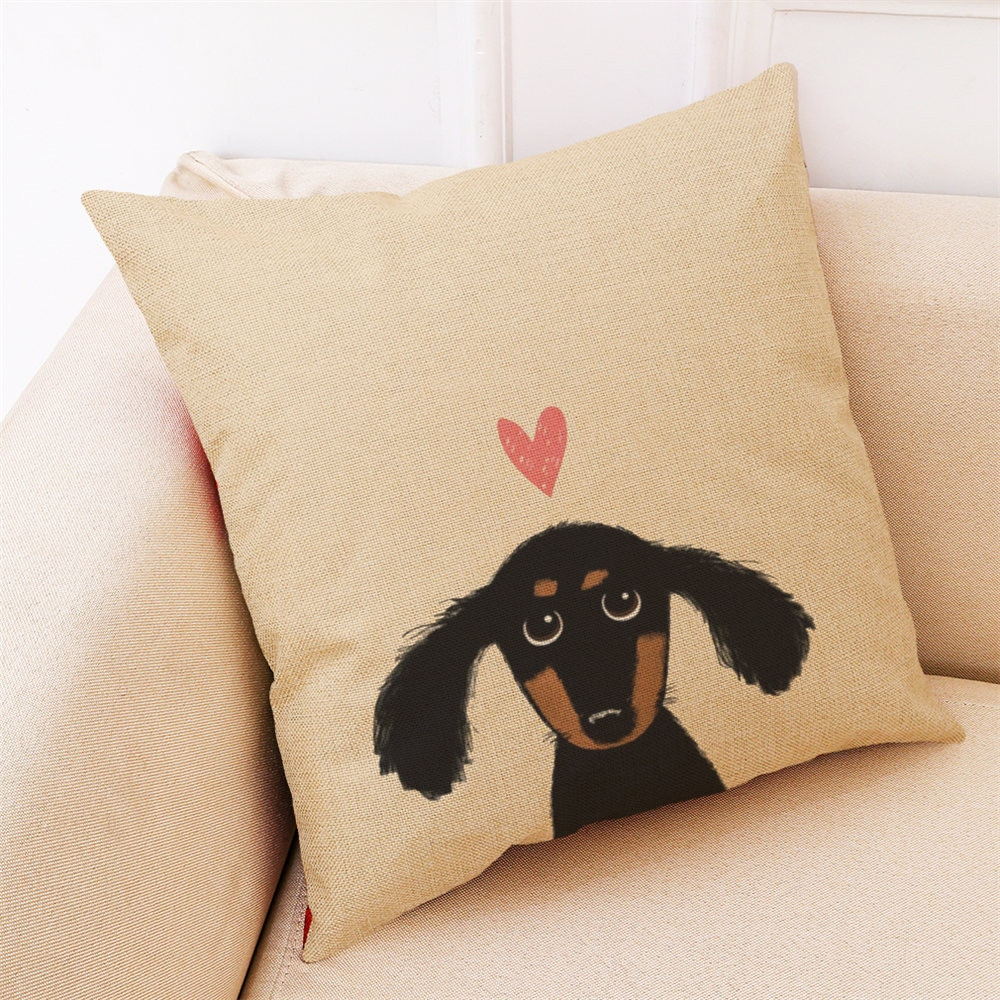 ¡2018 caliente! Decoración del hogar funda de cojín Linda cabeza de perro funda de almohada fundas de almohada Drop Shipping De17