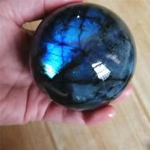 Boule de cristal Labradorite naturelle clignotante   Pierre gemme dénergie grande pour la méditation décoration de la maison, pierre Chakra Reiki