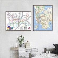 Wereld Metro Metro Kaart Posters En Prints Canvas Art Decoratieve Muur Foto S Voor Woonkamer Home Decor Unframed Schilderen