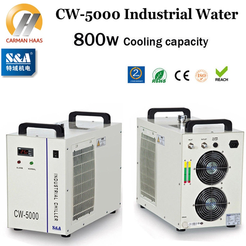 CW5000 Industry Water Chiller for CO2 Laser Engraving Cutting Machine 80W 100W Laser Tube