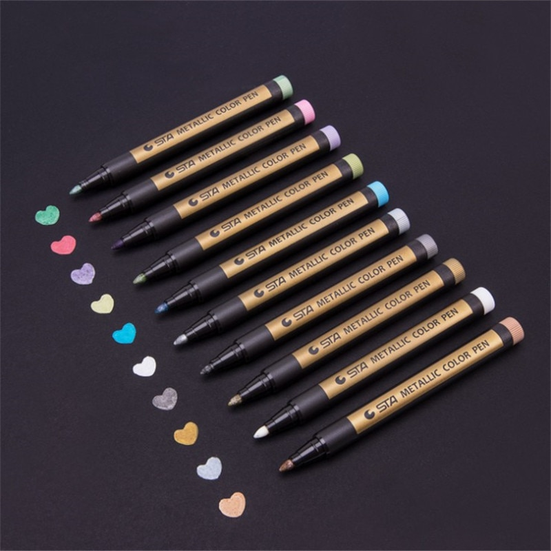 Металлическая цветная ручка для рисования, 1 шт.