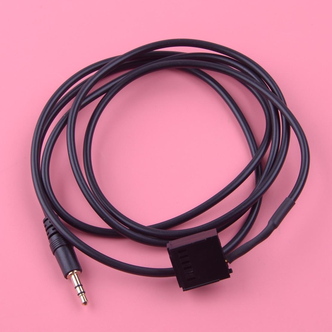 Dwcx carro auto 3.5mm jack plug ligação aux adaptador de entrada cabo 6000cd apto para ford focus C-MAX mondeo S-MAX conectar trânsito mp3