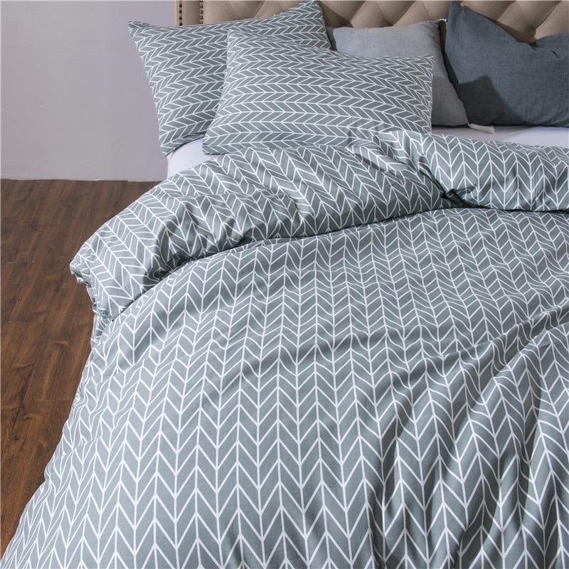 Juego de cama con estampado reactivo, funda nórdica de algodón supersuave, funda de almohada plana, edredón, cama, cama doble, tamaño King