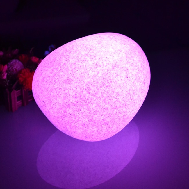 LED Marble Stone Table Lamp illuminouse Cobble Light for Christmas Decoration free shipping drop shipping 1pc enlarge