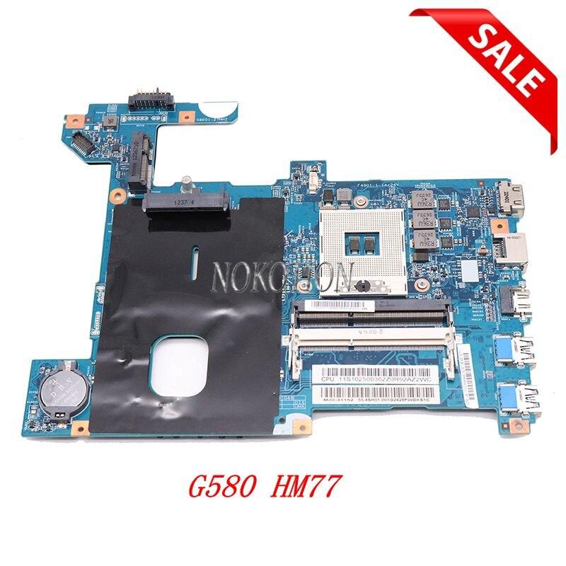 NOKOTION placa base de computadora portátil para Lenovo G580 HM77 DDR3 LG4858 UMA placa base MB 48.4SG06.011 11S900003 probada completa