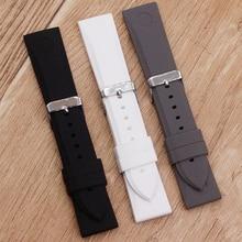 Accessoires de montre bracelet en Silicone souple pour Armani AR0584 AR0595 AR0593 23mm bracelet de montre pour hommes