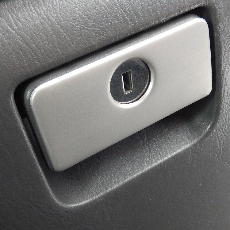 Хромированная накладка на ручку открывания бардачка дверцы перчаточного ящика из нержавеющей стали для Toyota Land Cruiser Prado J120 Lexus GX460 Тойота Ленд Крузер Прадо 120 Лексус 2003 2004 2005 2006 2007 2008 2009