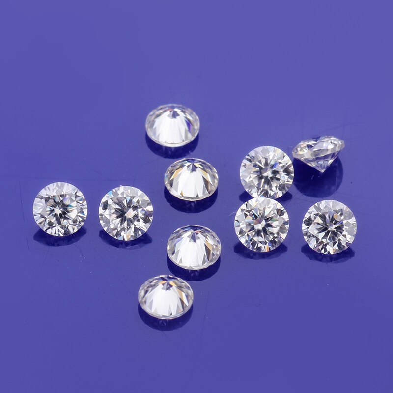 Perto de GH cor branca 1ct/pack branco diamante solto beads 1.50 milímetros rodada brilhante moissanites pedras para fazer jóias