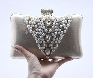 2016 Promotion Solid Solid Bag Day Clutches Bag Mini(<20cm) Hasp Day Clutches Hot Selling Style for Pearl with Diamond Evening