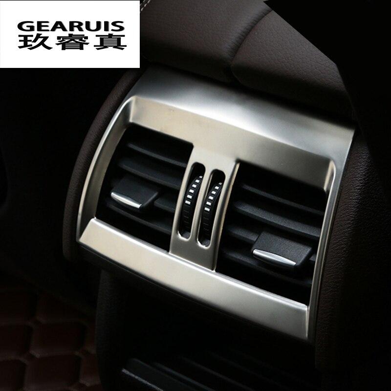 Estilo de coche para BMW X5 f15 X6 f16 E70 E71 ventilación de aire acondicionado trasero marco decorativo salida embellecedor pegatina cubierta auto Accesorios