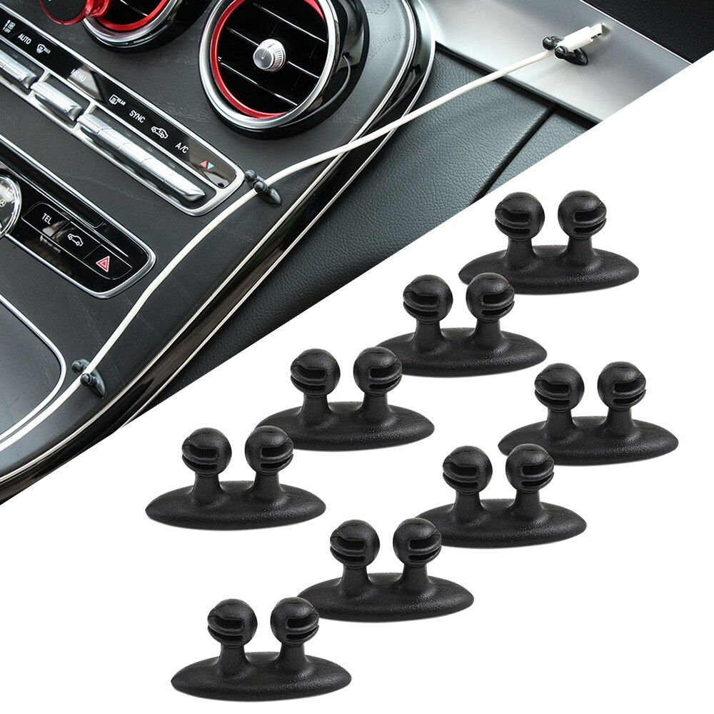 8 Uds pinza de cable de coche pegatinas para Volkswagen VW Golf 5 5 5 6 6 7 JETTA PASSAT B5 B6 B7 B8 MK4 MK5 MK6 Tiguan, Beetle Polo Bora T-ROC