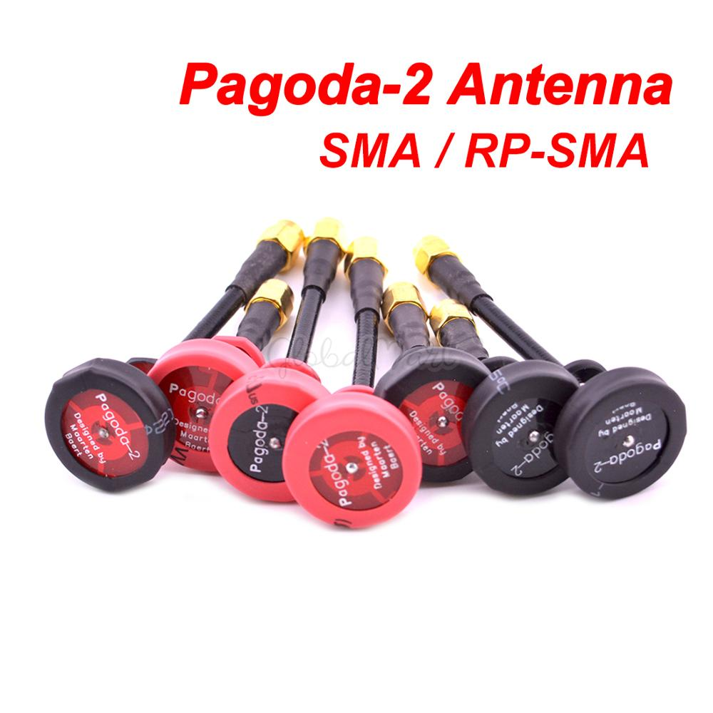 Pagoda 2 pagoda-2 5.8GHz FPV Antenna SMA & RP-SMA Plug Connector for RC FPV Racing Drone Quadcopter Wizard X220S