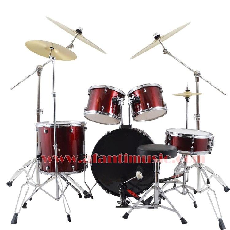 5 tambours 4 cymbales/couleur pourpre/Afanti musique Jazz batterie ensemble/kit de batterie (AJDS-435)