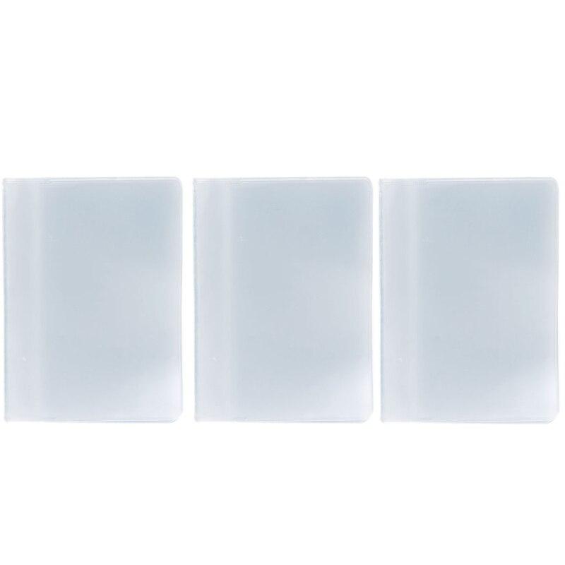 1 ud. 10/20 tarjeta de plástico PVC bolsa suave transparente nombre ID tarjeta de crédito funda, soporte organizador de bolsillo transparente