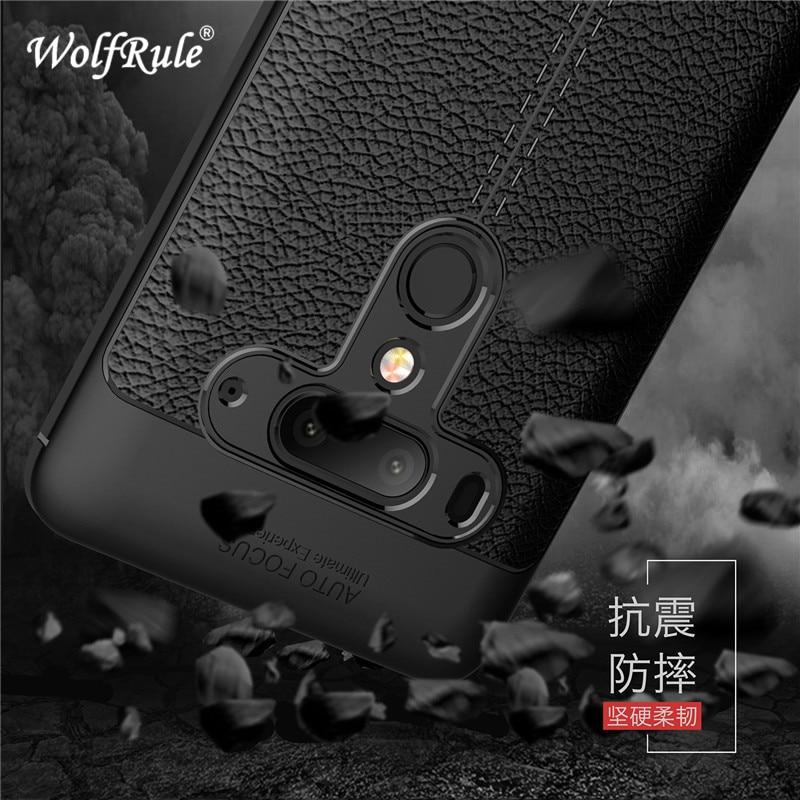 WolfRule para funda HTC U12 Plus funda a prueba de golpes de cuero de lujo TPU funda trasera para HTC U12 Plus Fundas para HTC U12 + carcasas de teléfono