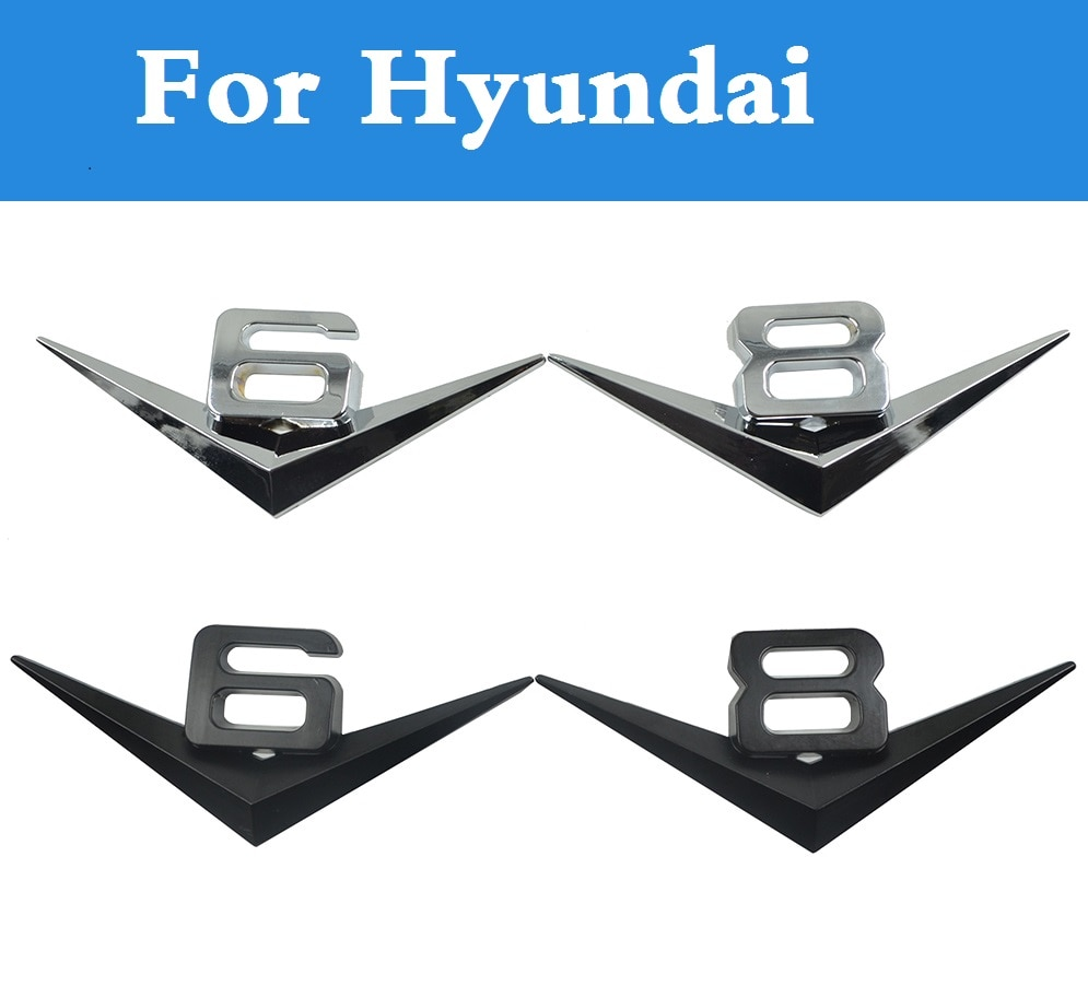 Автомобильный Стайлинг, автомобильный стиль, 3D капот, знак, решетку, V6, V8, эмблема, наклейки для Hyundai Accent, Aslan, Atos, Avante, Centennial, Tuscani, Verna