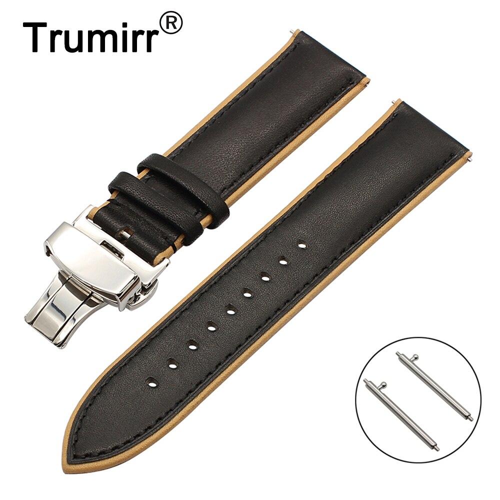 Ремешок для часов из натуральной кожи, 22 мм, двойной цвет, для Frederique Constant Жака Лемана Ориент, наручный браслет