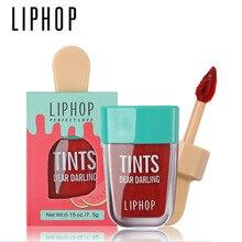 1 sztuk LIPHOP długotrwały odcień ust 5 kolorów szminka w płynie Batom Rouge A Levres wargowy matowy błyszczyk Sexy tatuaż kosmetyczne