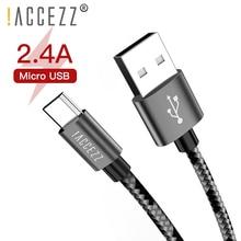 ! Câble de synchronisation de Charge USB accézz Micro USB pour Xiaomi Redmi 4X 4A pour Samsung Galaxy S7 S6 pour Huawei Android câbles de Charge rapide