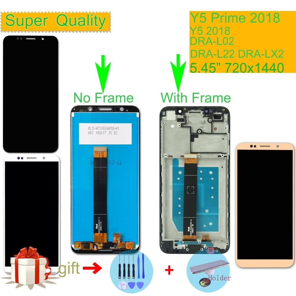 ORIGINAL Huawei Y5 primer 2018 DRA-L02 DRA-L22 DRA-LX2 pantalla LCD de montaje de pantalla táctil con marco Y5 2018 LCD digitalizador