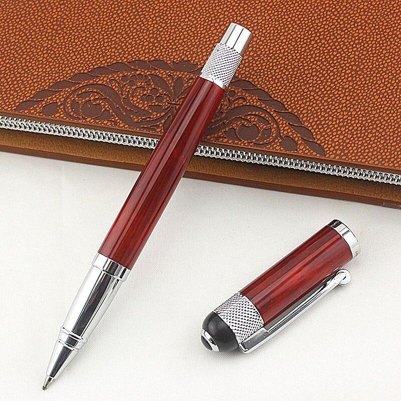 Bolígrafos de papelería de lujo de 0,5mm con punta de bola de alta calidad de Bolígrafo de Metal proveedores de oficina y Escuela adhesivo de Estudiante