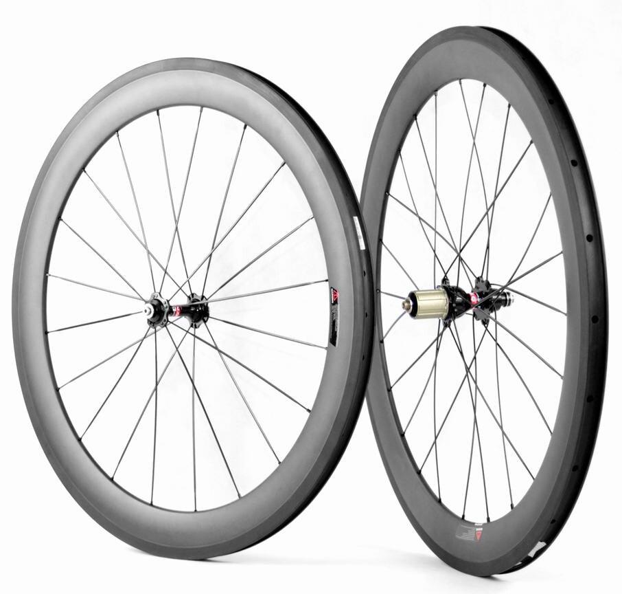 Ruote em carbonio bici da corsa clincher roda/aro 60mm profundidade 23 largura china corrida bicicleta brompton melhor revisão bicicletas roda conjunto