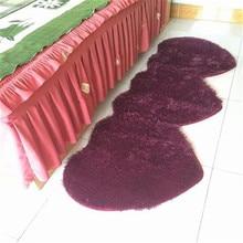 1 pièces mode Superfine soie laine mignon coeur à coeur forme tapis antidérapant salon/chambre/cuisine/fenêtre/lit côté porte tapis