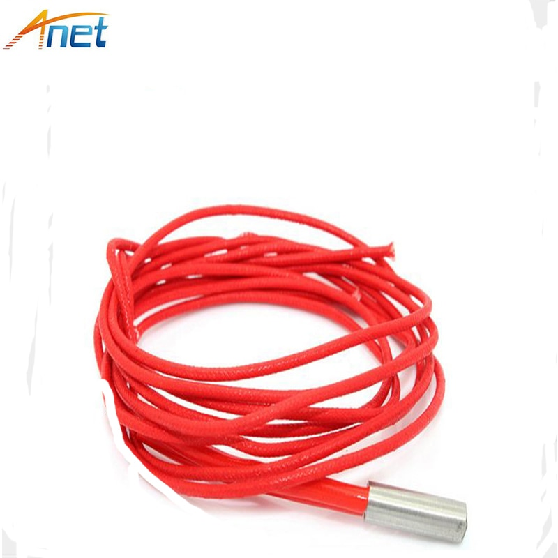 Anet 10pcs/lot Heating Tube 3D Printer Part Single-head Electric Heater 6*20mm Stainless Steel Heating Pipe Heater 1.5m 24V 40W