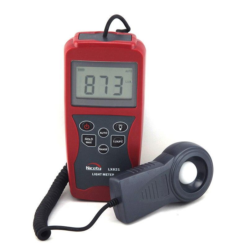 LX821 осветительный прибор, высокоточный световой измеритель, портативный мини портативный цифровой фотометр