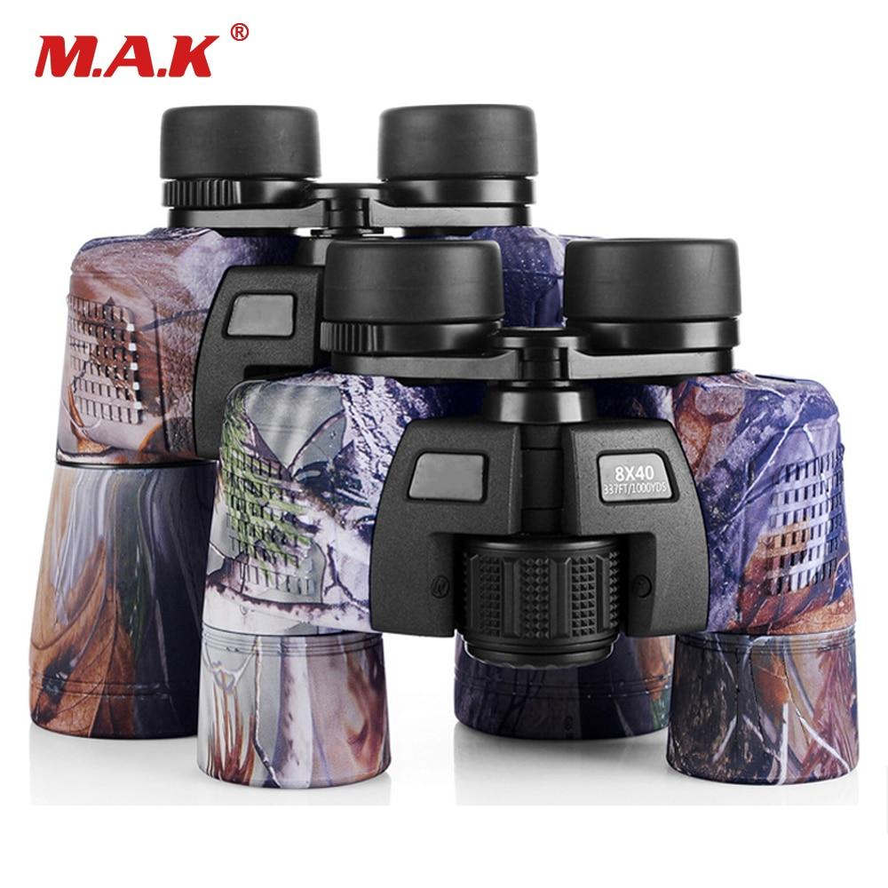 8x40 /10x50 Binocular Military Camo Telescope Waterproof FMC Blue Film Coated Optical Len for Hunting