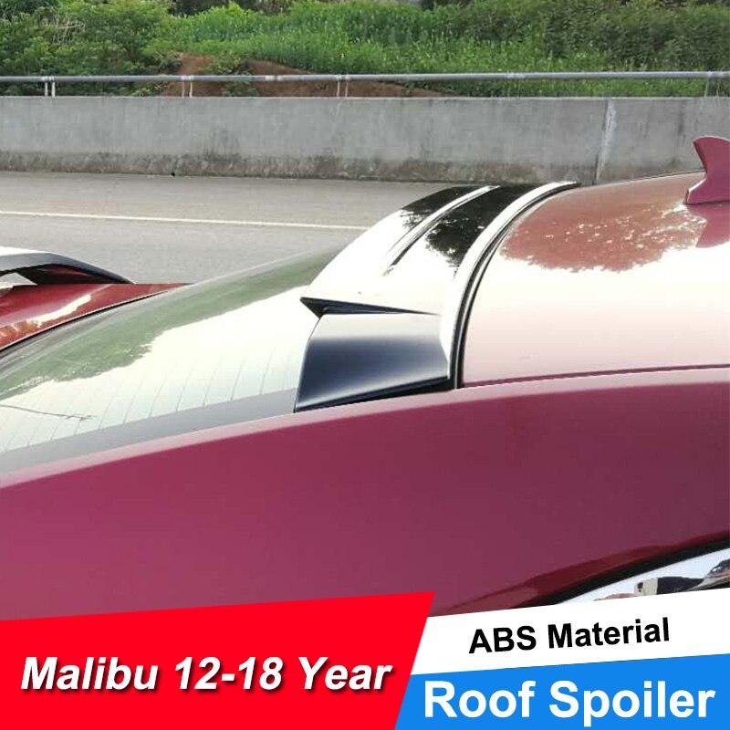 JNCFORURC ventana trasera auto Spoiler para Chevrolet Malibú 2012 13 14 15 16 17 Material plástico ABS de Spoilers de techo alas para Malibú