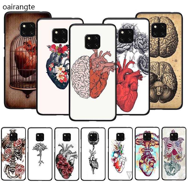 Medical Human Organs Brain Meridian Kidney Soft Phone Cover Case For Huawei Y6 Y7 Y9 Prime 2019 2018 Mate 10 20 30 Pro Lite