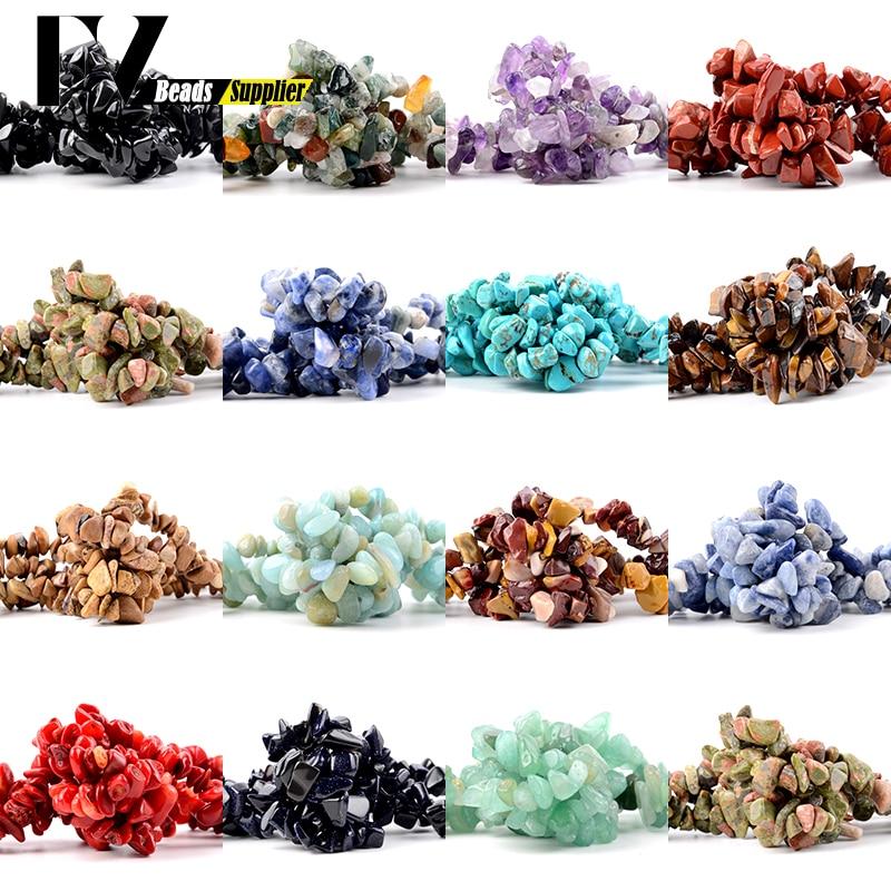 Cuentas de piedra Natural de 5mm-8mm, amatistas turquesas, cuentas de Chips de...