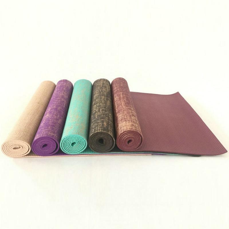 Толстый льняной удлиненный натуральный джутовый коврик 5 мм 183*61 см коврики для йоги без запаха|Коврики для йоги| | АлиЭкспресс