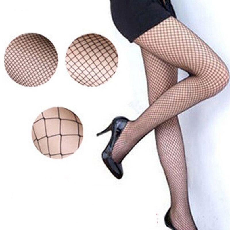 1/2 uds las mujeres medias de malla sexys Fishnet medias de nylon Media larga Jacquard pie costura pantimedias por encima de la rodilla 2019