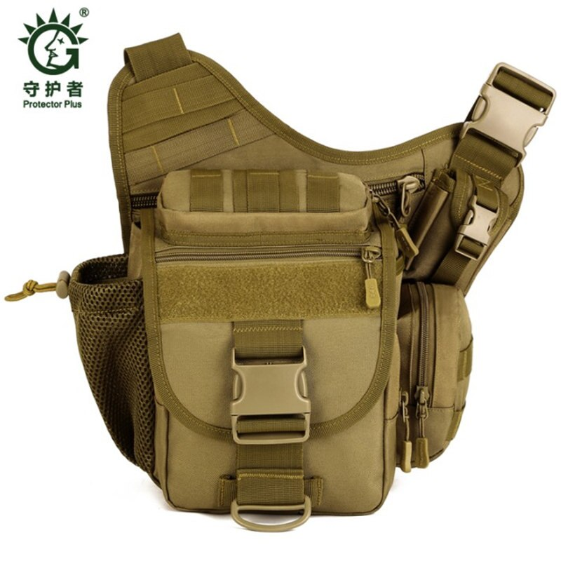 Bolso de hombro tipo alforja militar bolso de Nylon multifunción Dslr Cámara bolsas de gama alta camuflaje Casual bolsa de viaje hologramas gratis