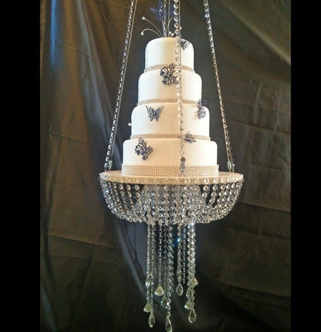 """Soporte de pastel grande de Navidad, mesa de pastel de acrílico de cristal, centros de cristal, soporte para torta de bodas, pantalla de flores (D = 60cm 23,6 """")"""