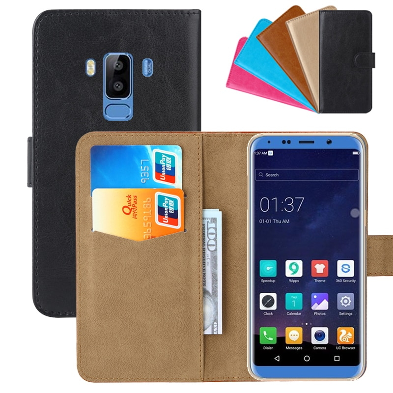 Luxury Wallet Case For Bluboo S8 PU Leather Retro Flip Cover Magnetic Fashion Cases Strap