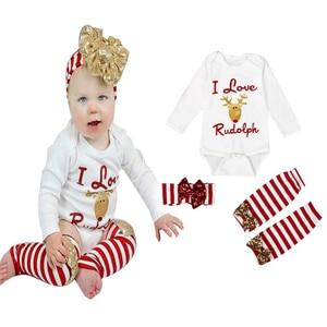 3 шт./компл.! Боди для новорожденных девочек, топы + гетры, полосатые чулки + повязка на голову, комплекты из 3 предметов для детей от 0 до 24 месяцев