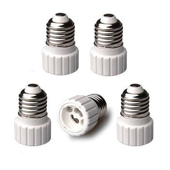 High Quality Lighting Accessories 5pcs Auraglow E27 to GU10 Lamp Holder Light Bulb Base Socket Converters Adaptor  AA