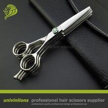 "5.5 ""superior profissional multi lâmina tesouras do cabeleireiro suprimentos tesoura barbeiro tesouras de cabeleireiro dupla desbaste tesoura corte"