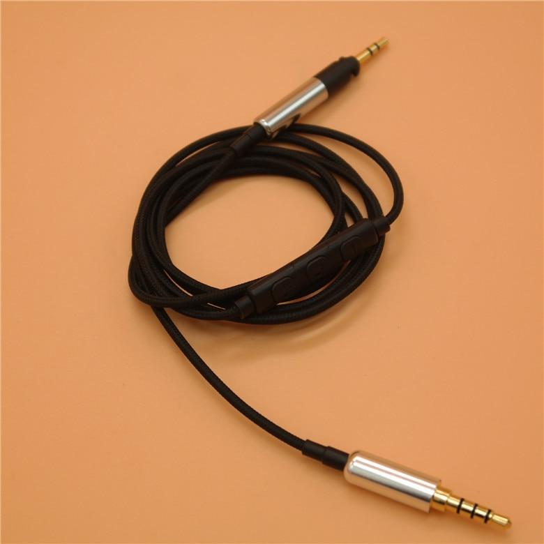 HD598, cable de nailon para auriculares, HD558, HD518, HD595, HD579, HD599, 1,2 metros
